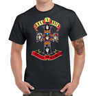 Guns N' Roses Cross Men T-Shirt Funny Graphic Shirt Cotton Short Sleeve Top Tees image