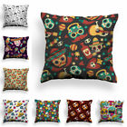 Fashion Skull Pattern Pillow Case For Car Sofa Cushion Cover Office Home Textile image