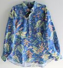 Polo Ralph Lauren Big and Tall Mens Blue Tropical Button-Front Shirt NWT