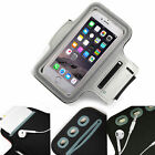 Grey Sports Armband Phone Case Cover Gym Running FOR Plum Ram 8