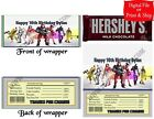 20 Personalized FORTNITE Printed Candy Bar Wrapper Favor w/Foil or Digital File