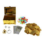 pirate treasure plastic gold coins and diamonds gems jewelry pirates party For Sale - 39