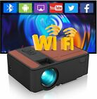 Smart HD Android Wifi Video Projector Blue-tooth Home Theater HDMI Wireless Game