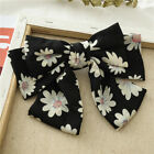 3 Layers Girl Hair Clip Floral Print Large Bow Hair Barrette Accessories Fashion