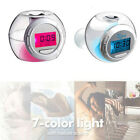 New 7 Color Digit LED Glowing Change Alarm Clock Thermometer with Nature Sound H