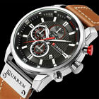 Sport CURREN Men's Watches Men Military Leather Waterproof Quartz Wrist Watch image