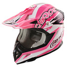 Chaos Kids Motocross Crash Helmet Pink