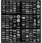 Picture Frames Home Decor Rock Vinyl Sticker Pack A4 Music Bands Death Metal Core Punk Doom Black Laptop Furniture Home Decorating