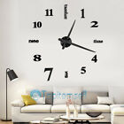 Large Wall Clock 3D Sticker Arabic Number Acrylic Watch DIY Wall Home Art Decor
