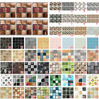 Pvc Mosaic Self-adhesive Bathroom Kitchen Decals Decor Home Wall 3d Tile Sticker