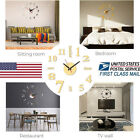 US Large Wall Clock Big Decal 3D Stickers Roman Numerals DIY Wall Modern Home