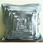 Vinage Style Ruffles 18*x18* Crushed Art Silk Grey Pillows Cover - Vintage Glory