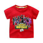 Kids Cartoon Boys Teenagers Tee Shirt Fort 100% Cotton Pullover Shirt  Age 4-10