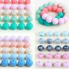 10PC 15mm Silicone Loose Beads Ball for Baby Teether Chain DIY Necklace Gifts