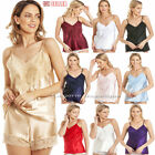 English Made Ladies Satin Camisole Top with Lace. Many Colours Size 10 - 28