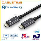 [Certified] Thunderbolt 3 Cable Type C to Type C PD Fast Charging 100W/60Hz Data
