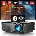 Smart HD Wireless Projector Android WIFI Blue-tooth Proyector Movie HDMI 1080P