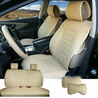 Tan PU Leather Full 5 Seats Cushion Front Rear to Dodge 80209 $92.8 USD on eBay