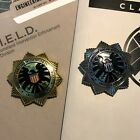 • SHIELD • AGENT BROACH • SILVER / GOLD / ANTIQUE • FURY AVENGERS COSPLAY PROP • image