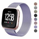 Milanese Magnetic Loop Strap Stainless Steel Wrist Band For Fitbit Versa Lite 2 image