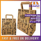 Medium Brown Printed 'Mystic' Kraft Paper Carrier Bags | 8