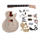 Coban Guitars DIY BYO Guitar Kit LP740 SQ Flamed Maple Veneer Chrome / Cream Fit