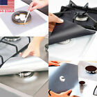 (4-Pack) Square Gas Stove Burner Covers Reusable Nonstick Top Protector Liners