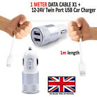 VODAFONE SMART ULTRA 7 In Car Fast Double Charger PLUS Micro USB Charging Cable