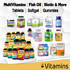Multivitamin Supplement Vitamin A B C D Fish Oil lot Tablet Soft gel Gummy Count $13.95 USD on eBay