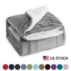 Sherpa Blanket Throw Fuzzy Bed Throws Fleece Reversible Blanket for Sofa 3 Size  image