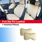 PU Leather Car 5 Seats Cushion Front & Rear Full Set for Dodge 59255 Tan $69.5 USD on eBay