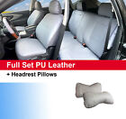 Gray Leatherette Full Car Seat Cushion Covers Front & Rear for Dodge #59255 $49.95 USD on eBay