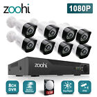 Zoohi 8CH 1TB 1080P 5 IN 1 DVR 8x 3000TVL Wired CCTV Home Security Camera System