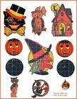 Victorian Halloween Witches Black Cats Owl Collage Sheet Clip Art