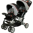 Baby Trend Double Stroller Sit N Stand with Car Seat Travel System Choose Set
