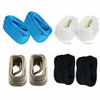 2Pcs 3/4 Inch 50FT Double Braid Nylon Rope Dock Line Black/Blue/White,White/Gold