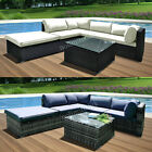 5 Seater Rattan Garden Corner Sofa Table Chair Furniture Set Patio Conservatory