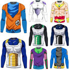 Mens Dragon Ball Z DBZ Long Sleeve Muscle Compression Casual Blouse T Shirt Tops $10.92 USD on eBay