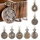 Vintage Steampunk Windup Pocket Watch Mechanical Antique Chain Retro Open Face image