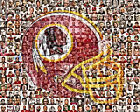 Washington Redskins Photo Mosaic Print Art, Designed Using over 100 Players. $42.0 USD on eBay