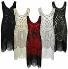 Kyпить Damen 20er 30er Jahre Charleston Kostüm Kleid Flapper Fransen Gatsby Party Kleid на еВаy.соm