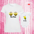 Boo-Bees Funny Mother Daughter Matching T Shirt Baby Shower Bodysuit Halloween
