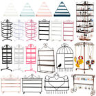 48/72 Holes Earring Jewelry Necklace Display Rack Metal Stand Holder Organizer