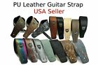 Внешний вид - Guitar Strap Leather PU Plastic Adjustable Acoustic Electric Bass Skin Sparkle