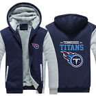 Tennessee Titans Fans Hoodie Fleece zip up Coat winter Jacket warm Sweatshirt $35.99 USD on eBay