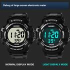 Men's LED Digital Large Screen Watch Stylish Sports Waterproof Wristwatch US  image
