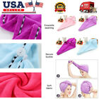 Rapid Fast Drying Hair Absorbent Towel Cap Turban Wrap Soft Thick Shower Hat USA