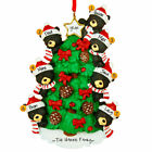 Bear Tree Family 3 4 5 6 7 8 9 Personalized Christmas Ornament DO-IT-YOURSELF
