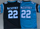 Christian McCaffrey 22 Carolina Panthers Black / Blue STITCHED Game MEN'S Jersey