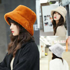 Ladies Winter Bucket Hat Cute And Warm Caps Hunting Fishing Hat